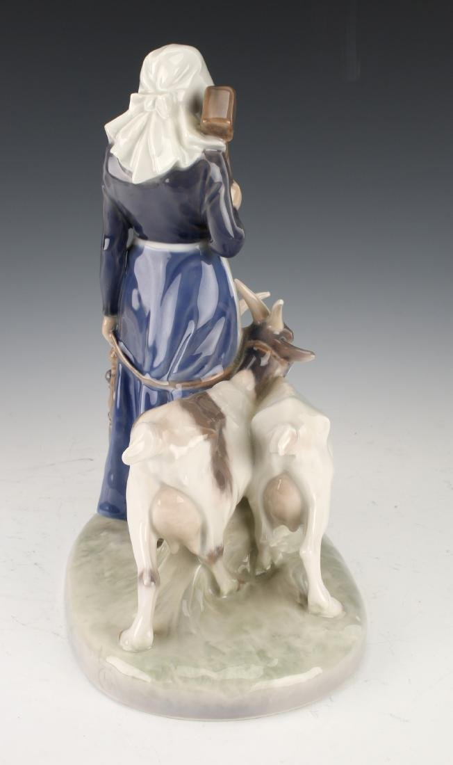 ROYAL COPENHAGEN WOMAN WITH GOATS FIGURINE - 5