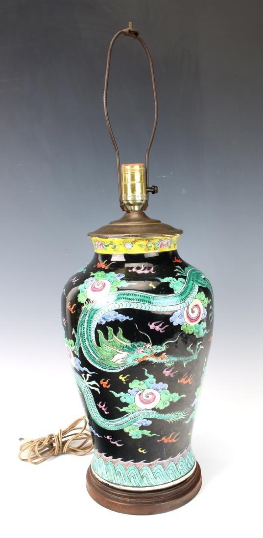 FAMILLE NOIR DRAGON LAMP - 2