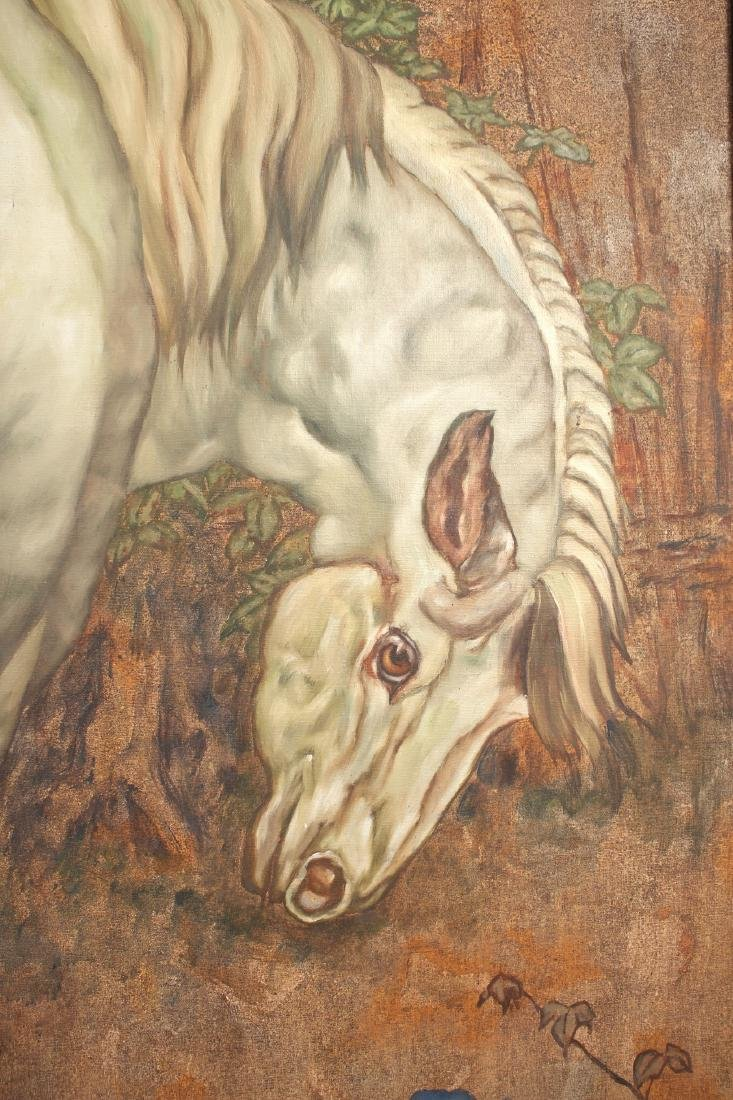 LARGE PAINTING OF HORSE UNDER TREE - 2