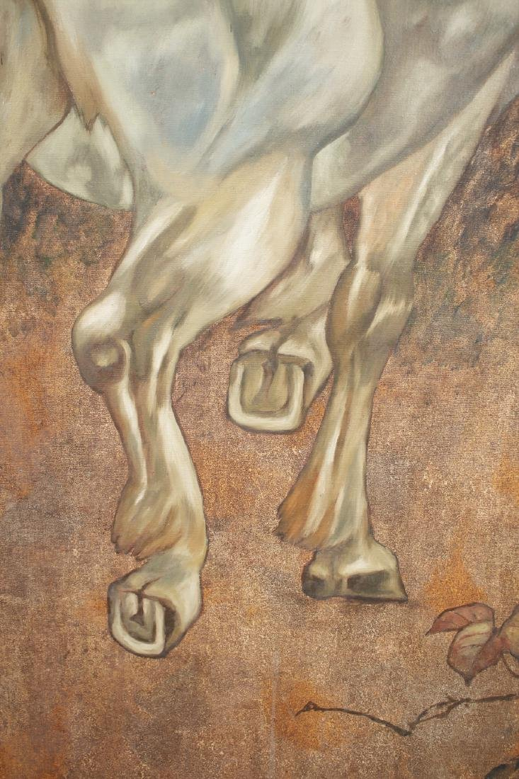 LARGE PAINTING OF HORSE UNDER TREE - 3