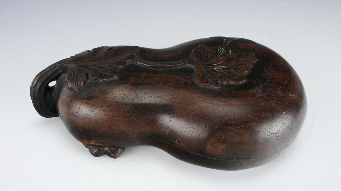 GOURD SHAPED INKSTONE WITH WOODEN CASE - 2