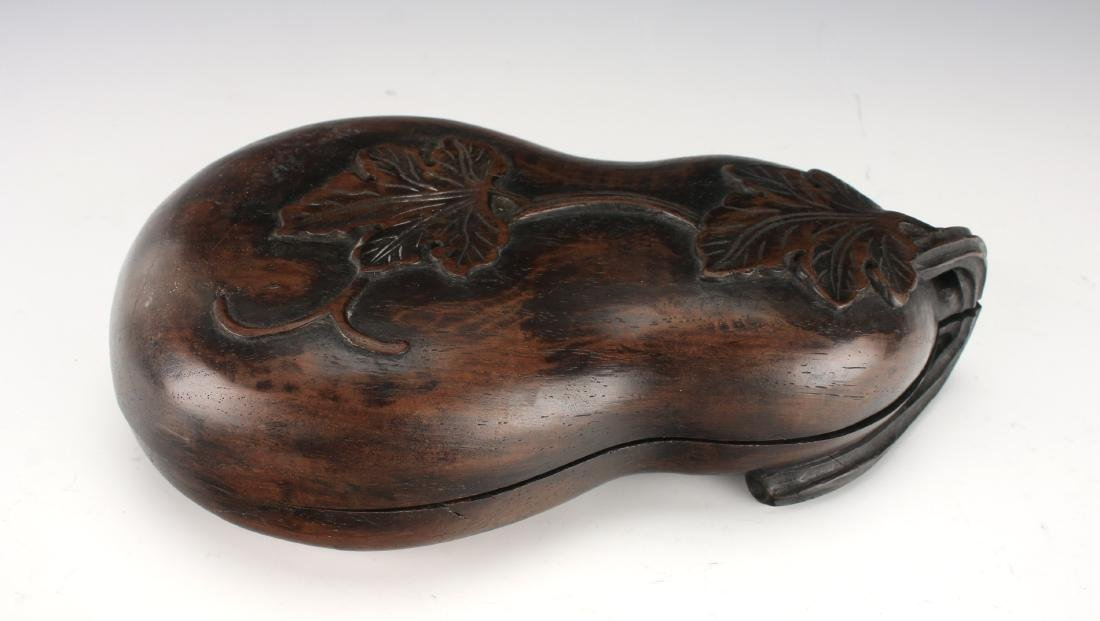GOURD SHAPED INKSTONE WITH WOODEN CASE - 4