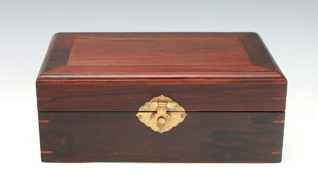 ROSEWOOD HINGED JEWELRY BOX