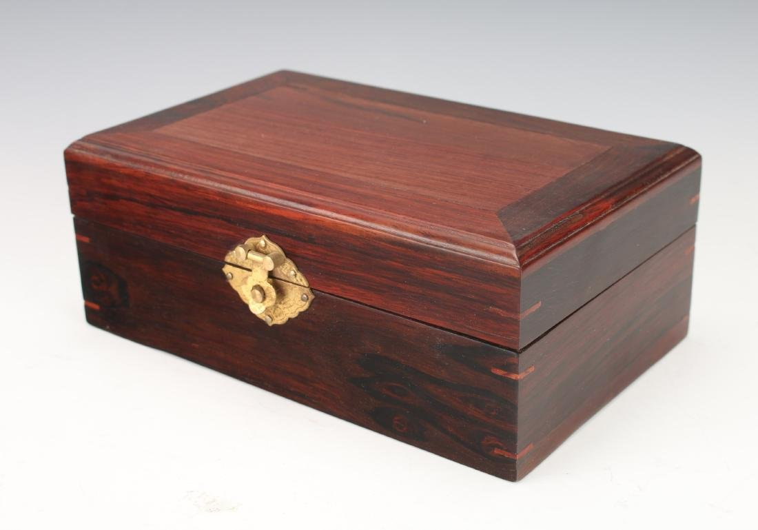 ROSEWOOD HINGED JEWELRY BOX - 2