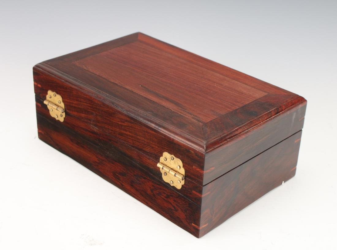 ROSEWOOD HINGED JEWELRY BOX - 3