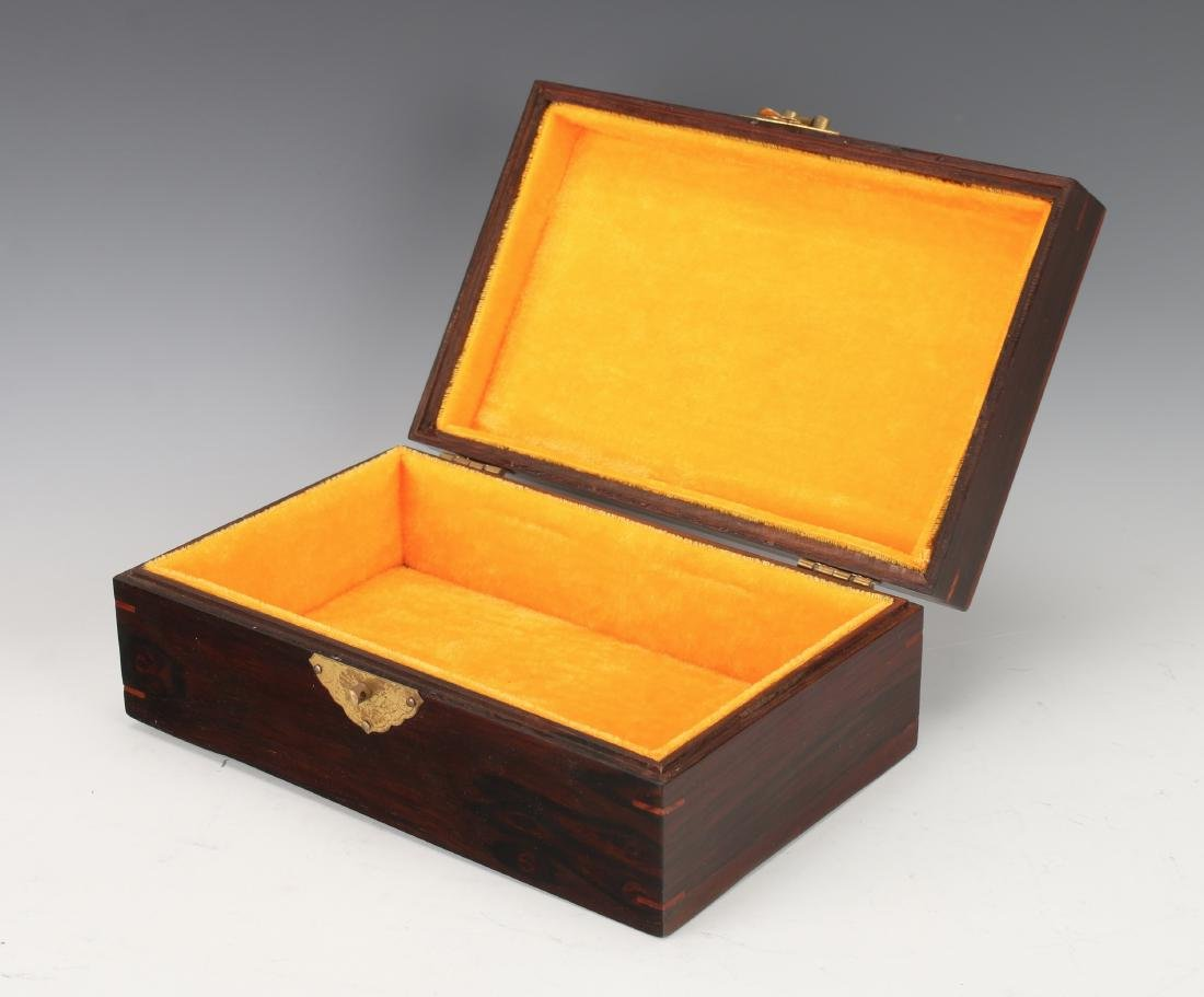 ROSEWOOD HINGED JEWELRY BOX - 4