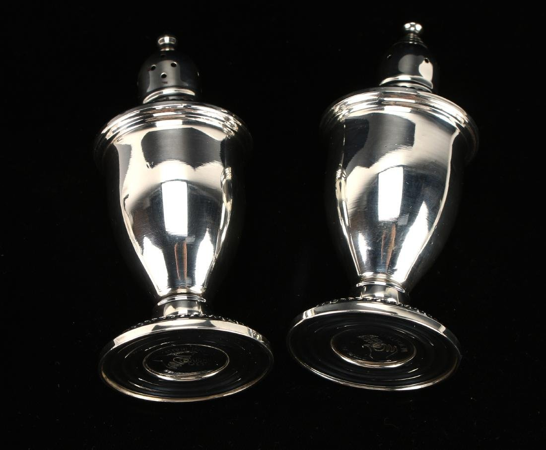 WEIGHTED STERLING SILVER SALT & PEPPER SHAKERS - 2