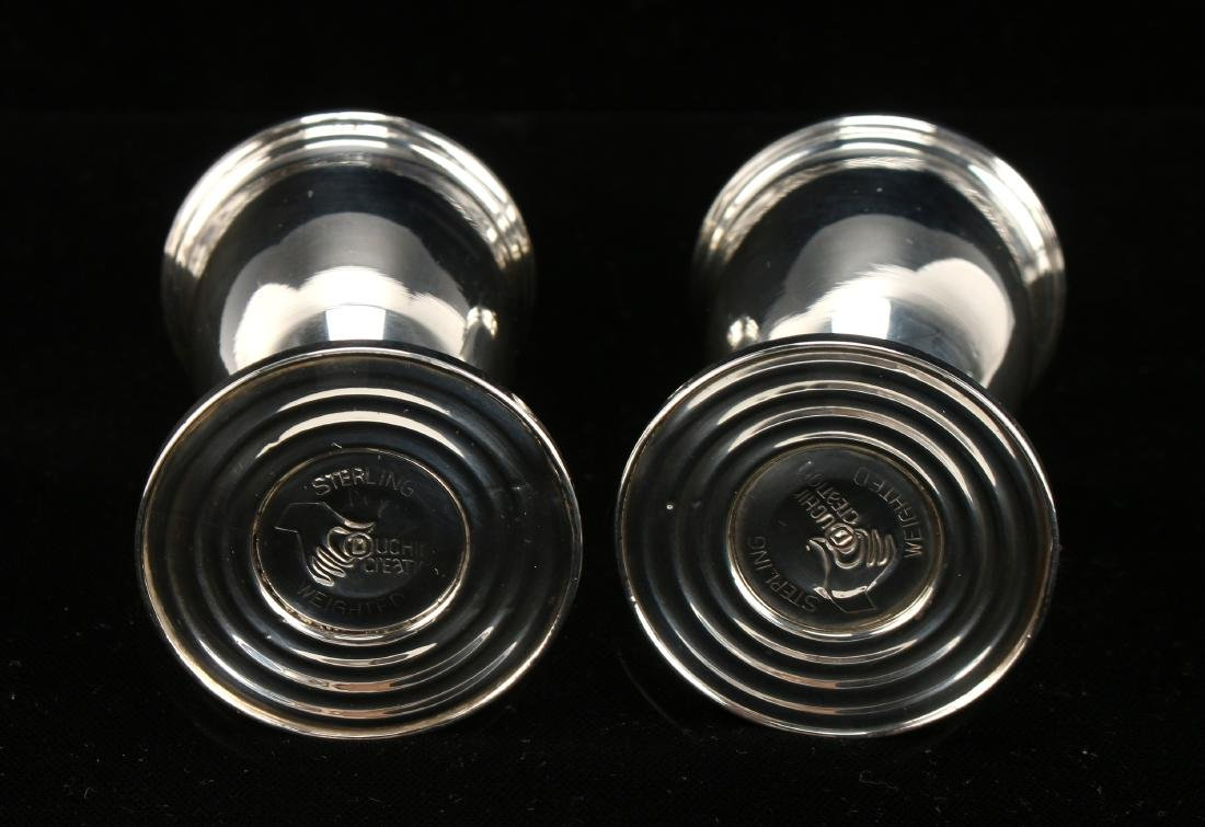 WEIGHTED STERLING SILVER SALT & PEPPER SHAKERS - 4