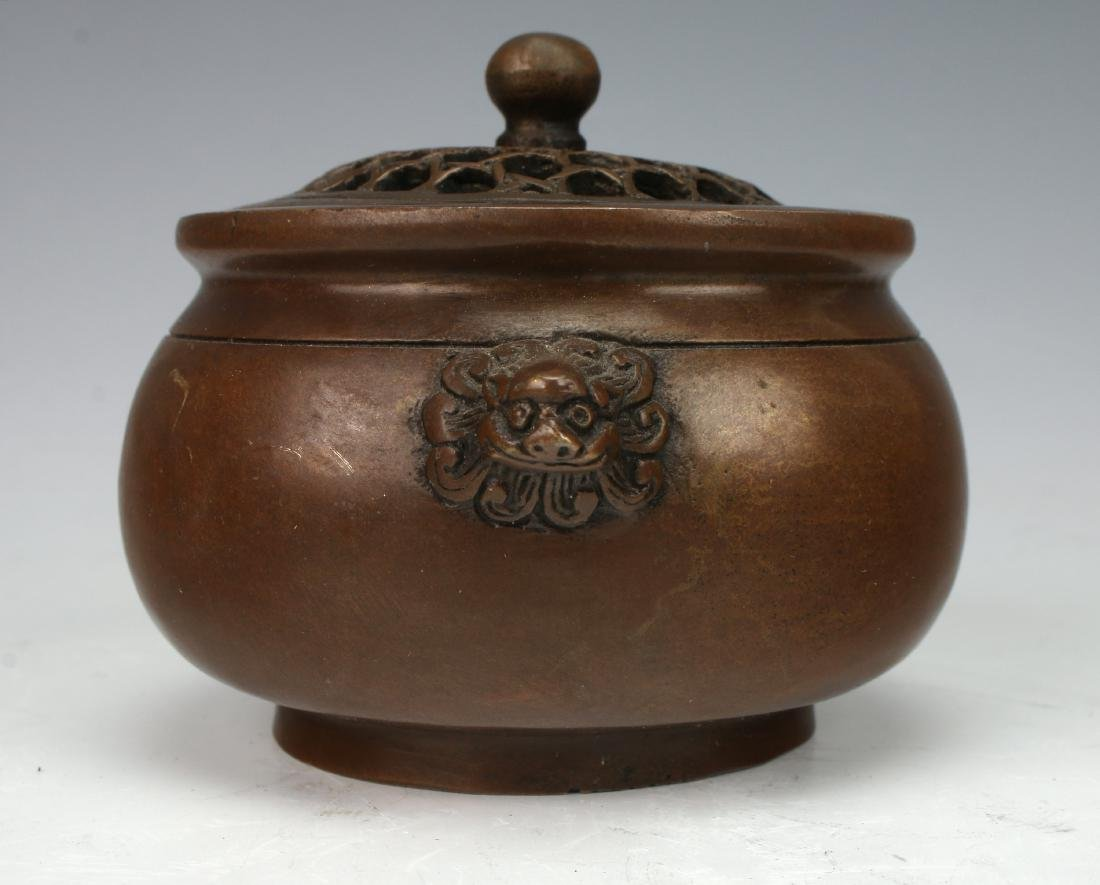 BRONZE CENSER WITH LID - 3