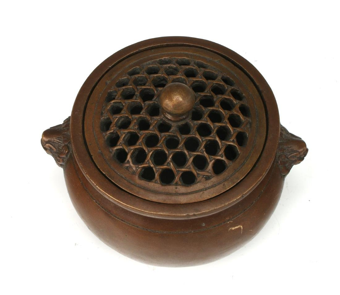 BRONZE CENSER WITH LID - 4