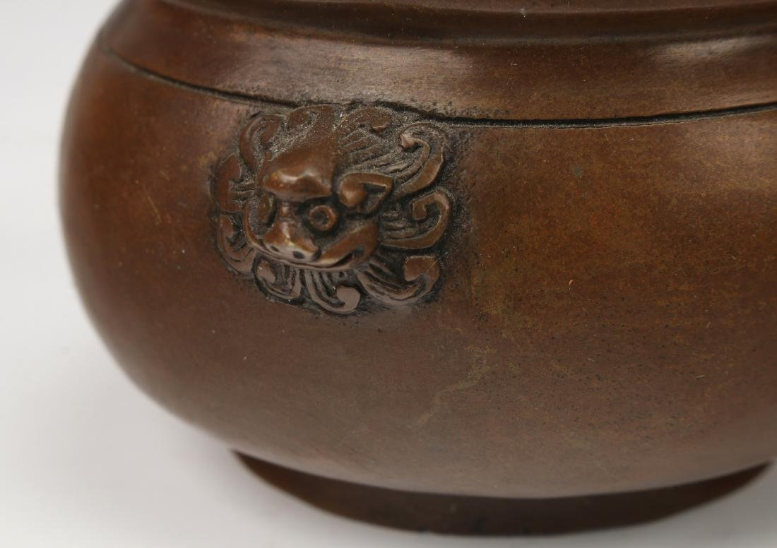 BRONZE CENSER WITH LID - 5
