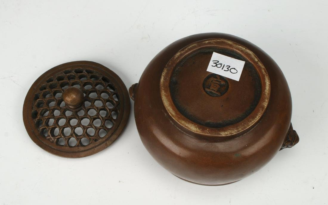 BRONZE CENSER WITH LID - 6
