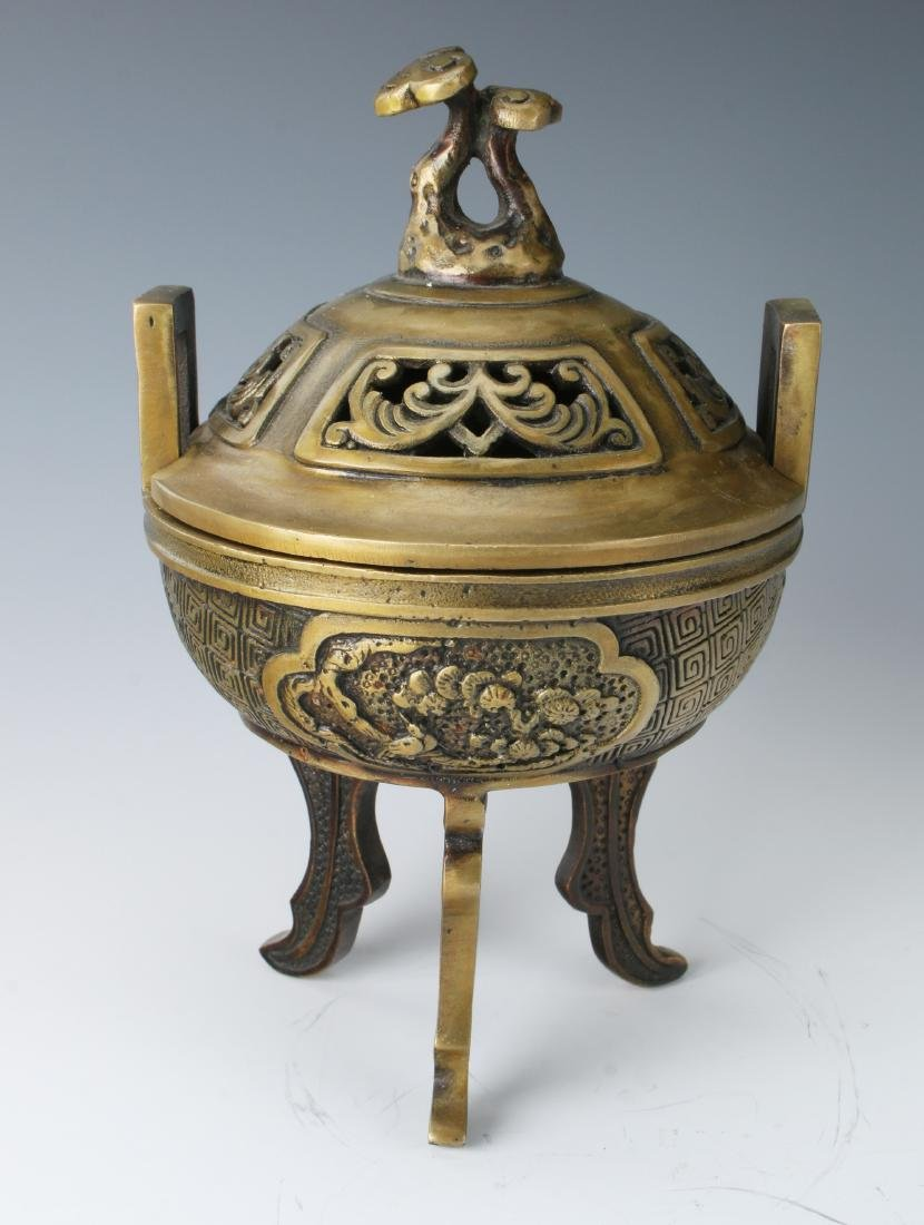 CHINESE METAL CENSER WITH LID - 2