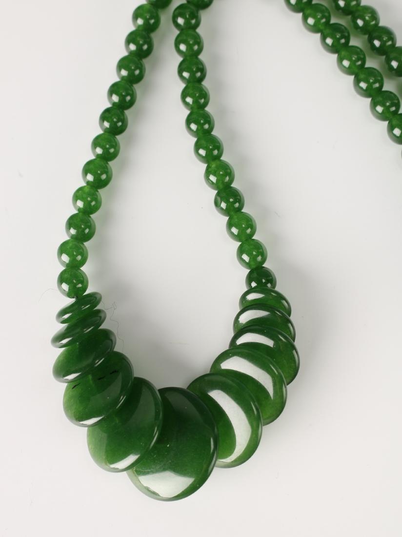 CIRCLE GREEN JADE NECKLACE - 4
