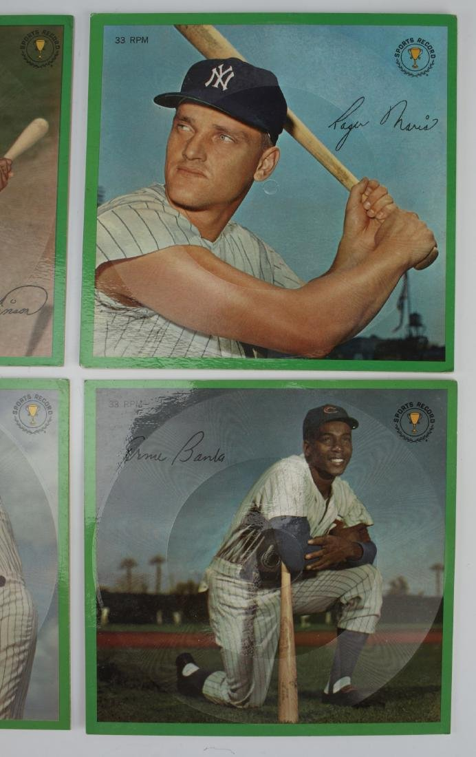 7 BASEBALL PLAYER STORY RECORDS 33 RPM - 4