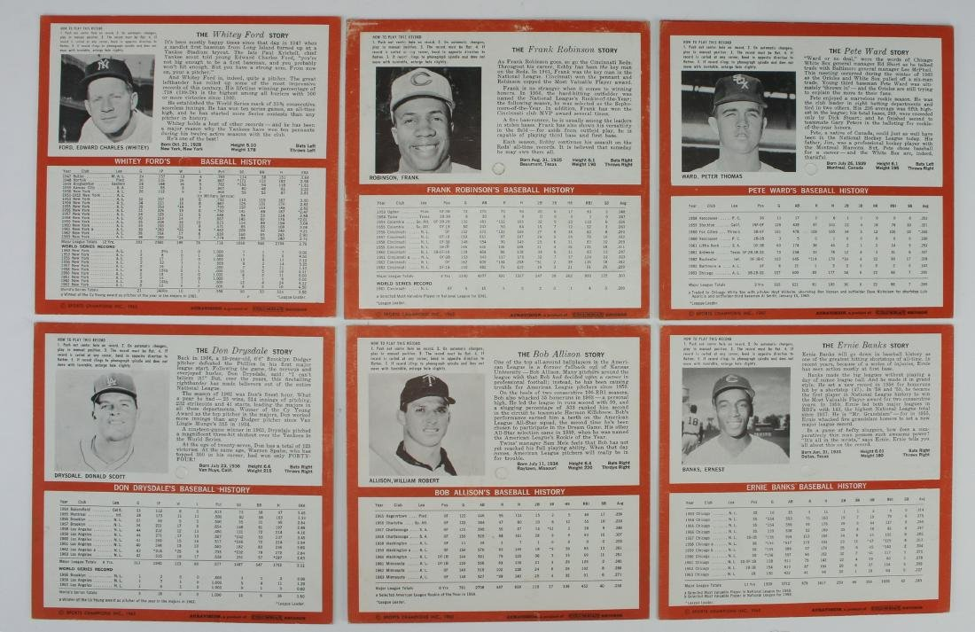 7 BASEBALL PLAYER STORY RECORDS 33 RPM - 5