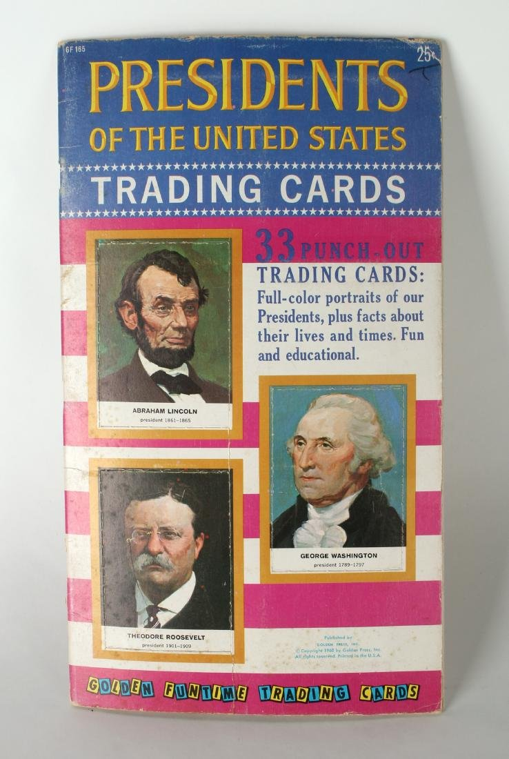 PRESIDENTS OF THE US TRADING CARDS 1960