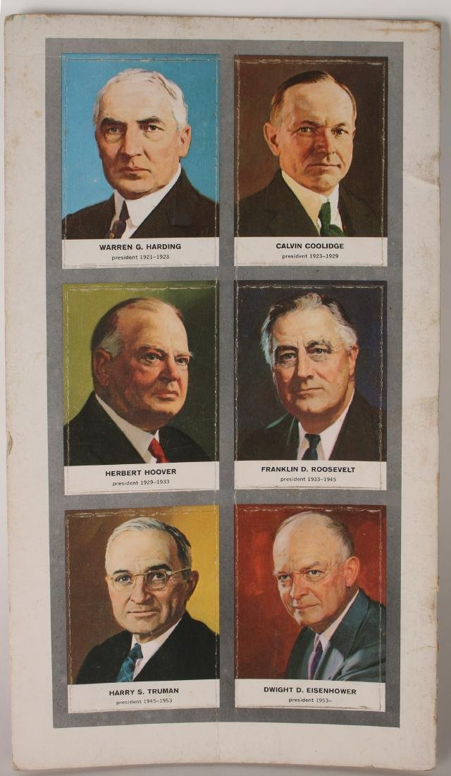 PRESIDENTS OF THE US TRADING CARDS 1960 - 2