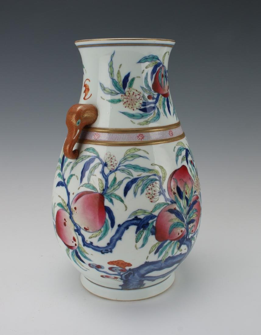 """""""HUNDRED DEER"""" SHAPE VASE WITH PEACHES - 2"""