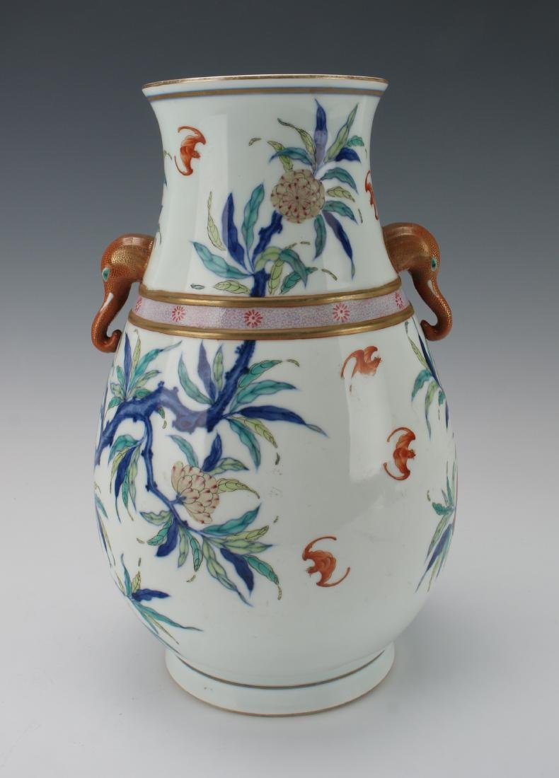 """""""HUNDRED DEER"""" SHAPE VASE WITH PEACHES - 3"""