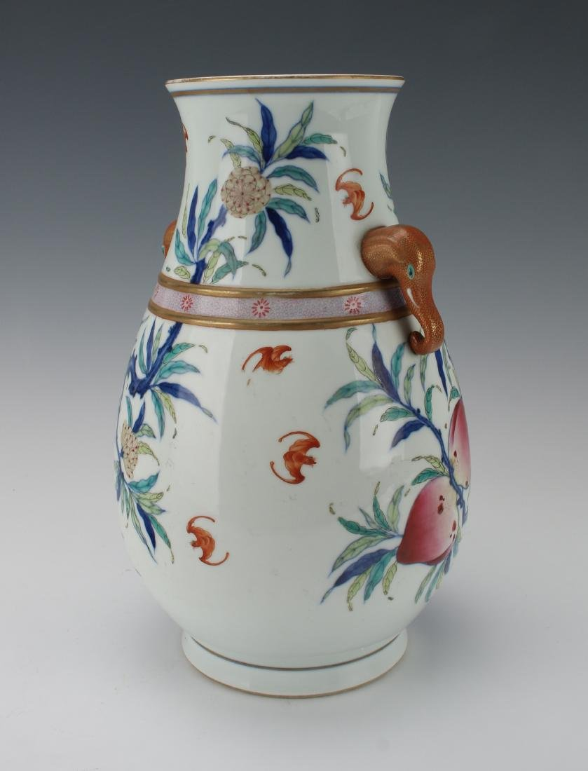 """""""HUNDRED DEER"""" SHAPE VASE WITH PEACHES - 4"""