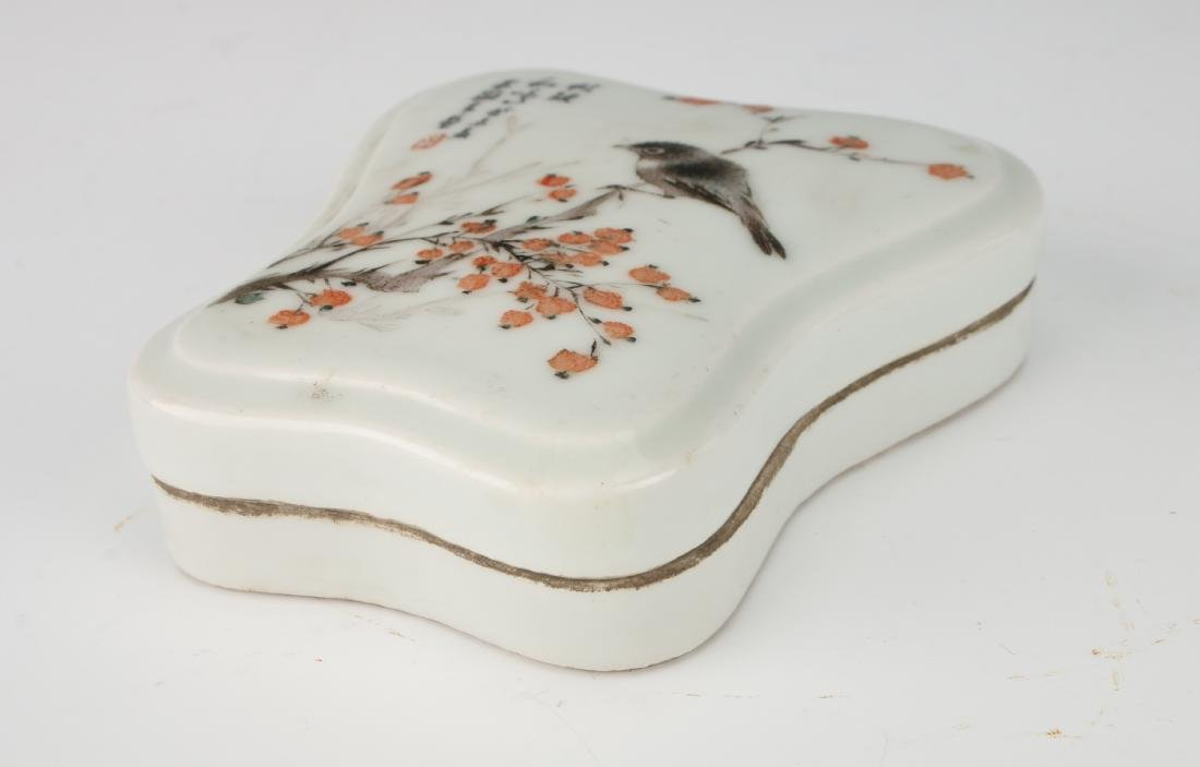INKSTONE WITH FLOWERS AND BIRDS - 4