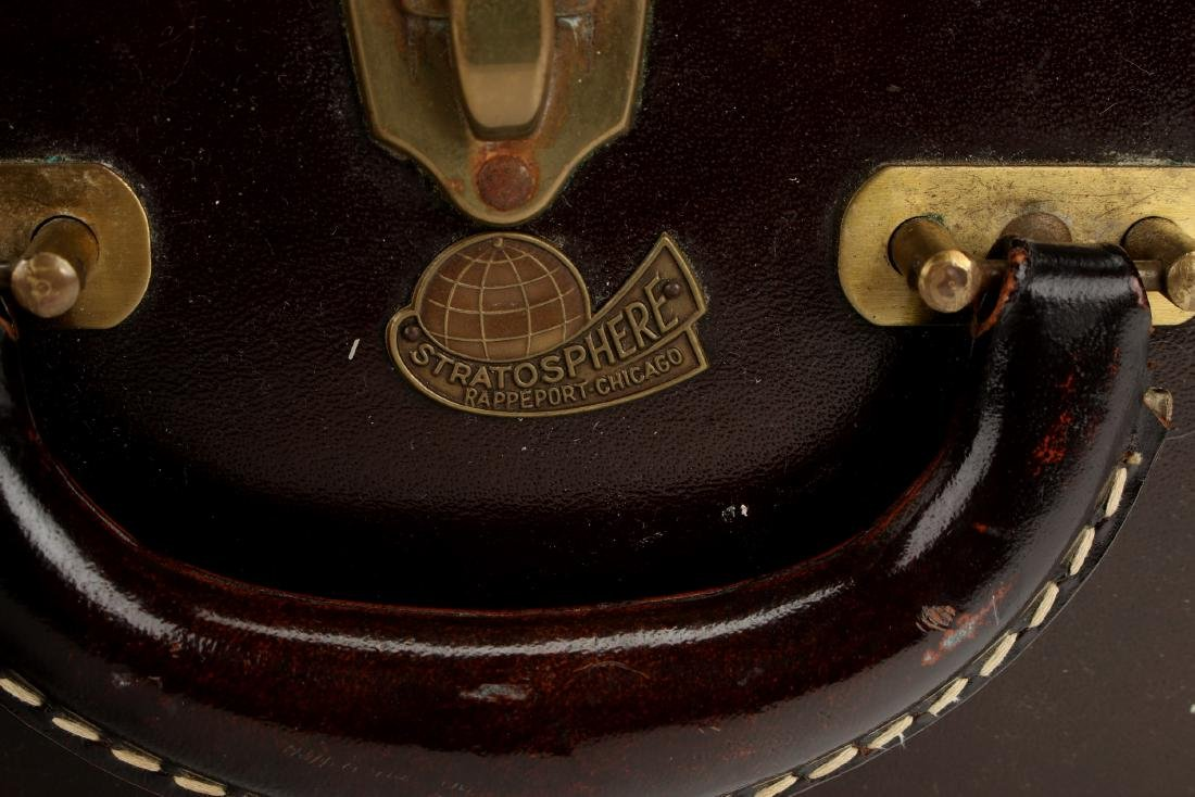 VINTAGE LEATHER STRATOSPHERE SUITCASE - 2