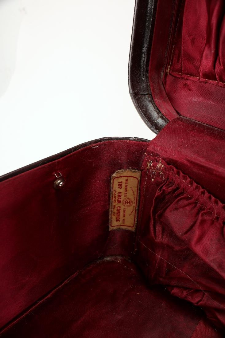 VINTAGE LEATHER STRATOSPHERE SUITCASE - 4