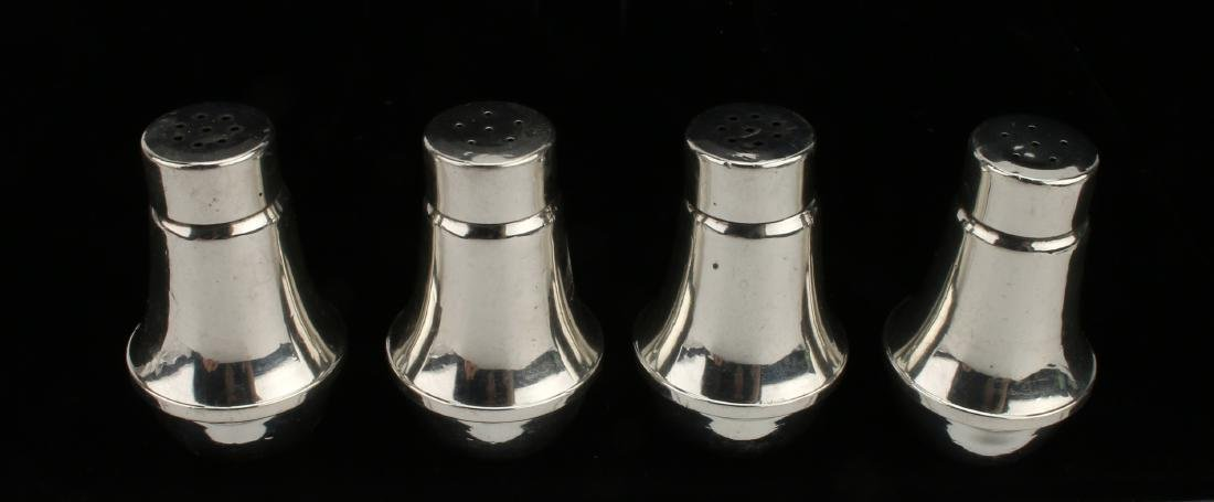 TWO PAIR STERLING SALT & PEPPER SHAKERS