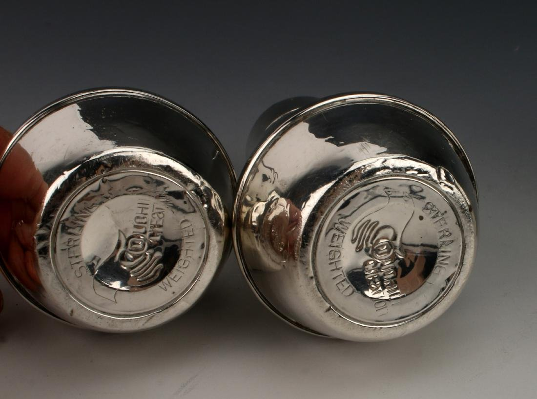 TWO PAIR STERLING SALT & PEPPER SHAKERS - 4