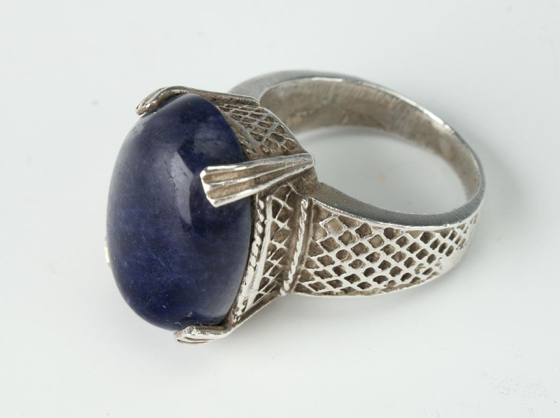 STERLING & SODALITE RING
