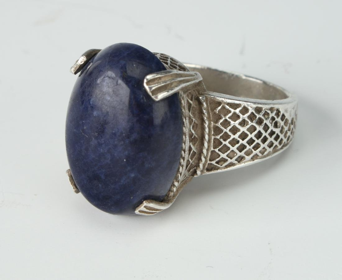 STERLING & SODALITE RING - 3
