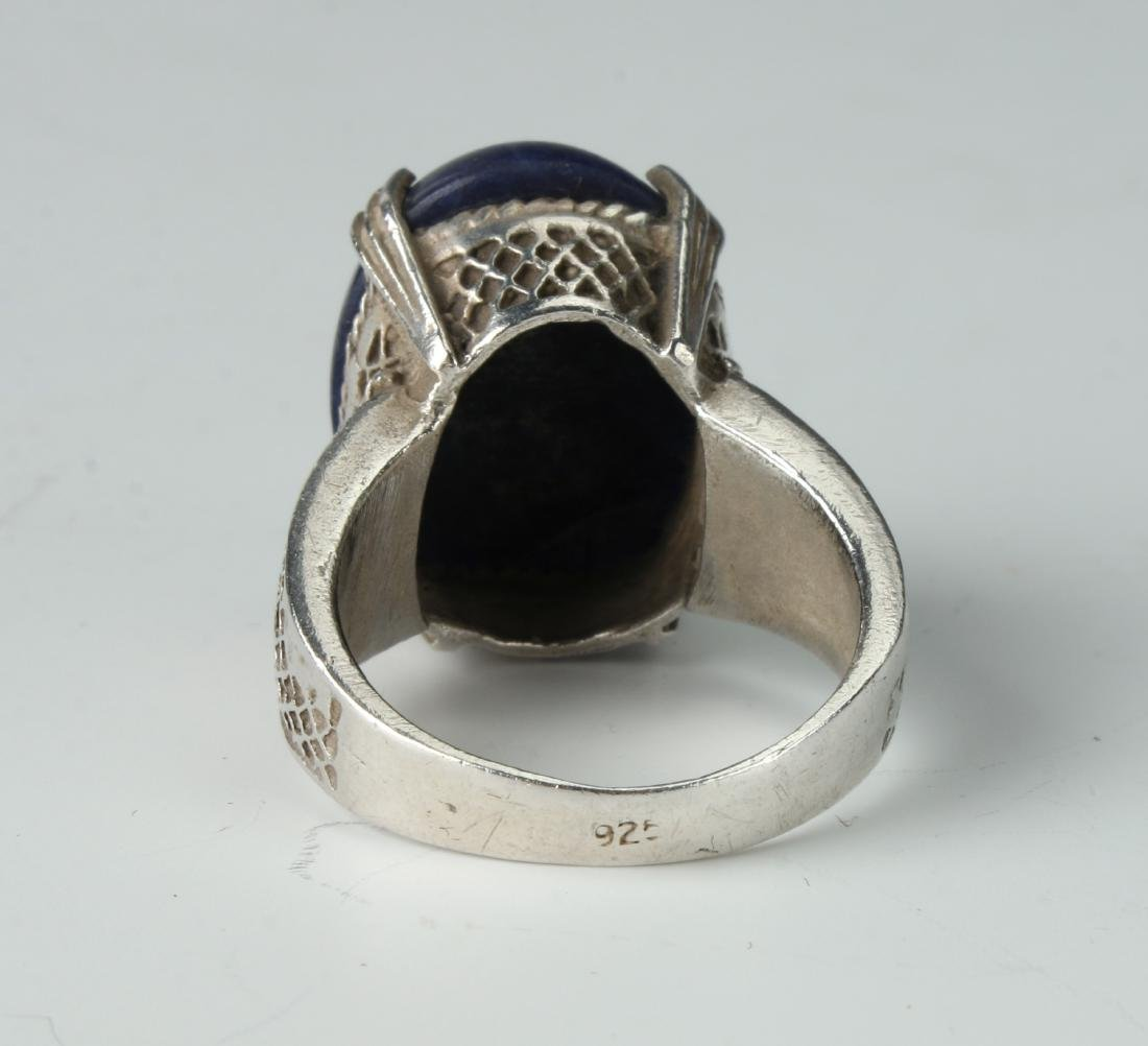 STERLING & SODALITE RING - 4