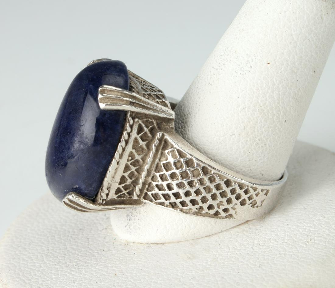STERLING & SODALITE RING - 5