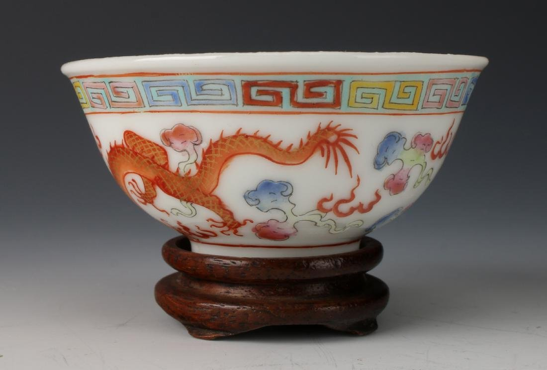 SMALL DRAGON WINE CUP ON STAND - 2