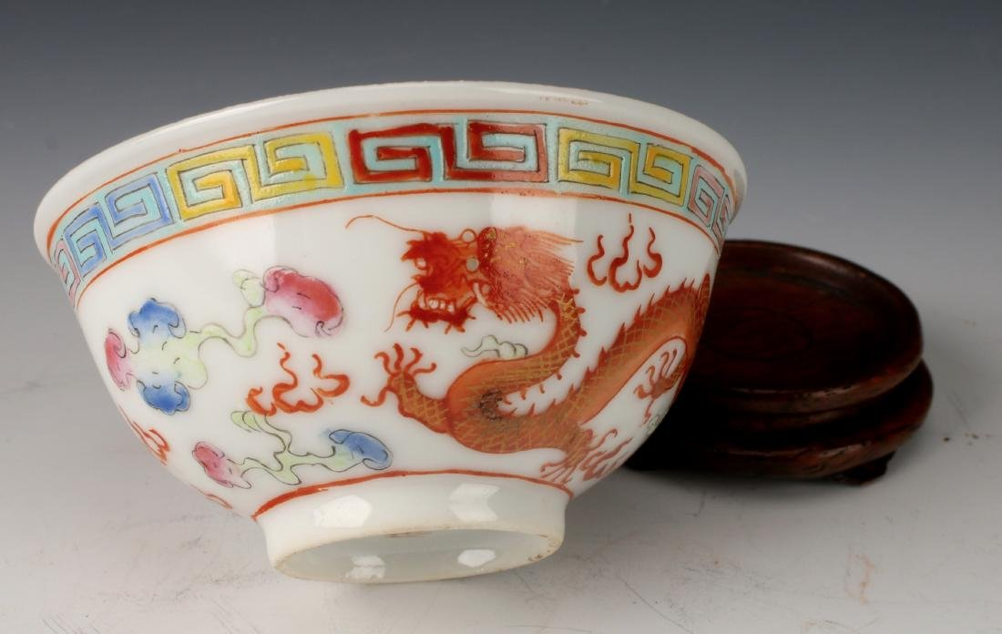 SMALL DRAGON WINE CUP ON STAND - 5