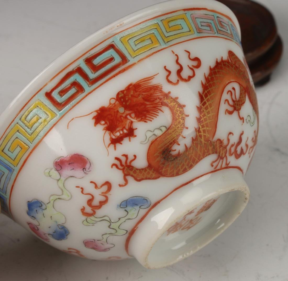 SMALL DRAGON WINE CUP ON STAND - 7