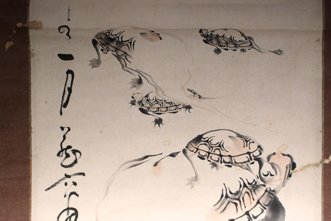 JAPANESE TURTLE SCROLL - 5