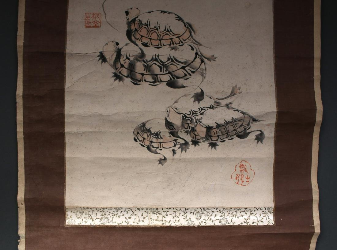 JAPANESE TURTLE SCROLL - 6
