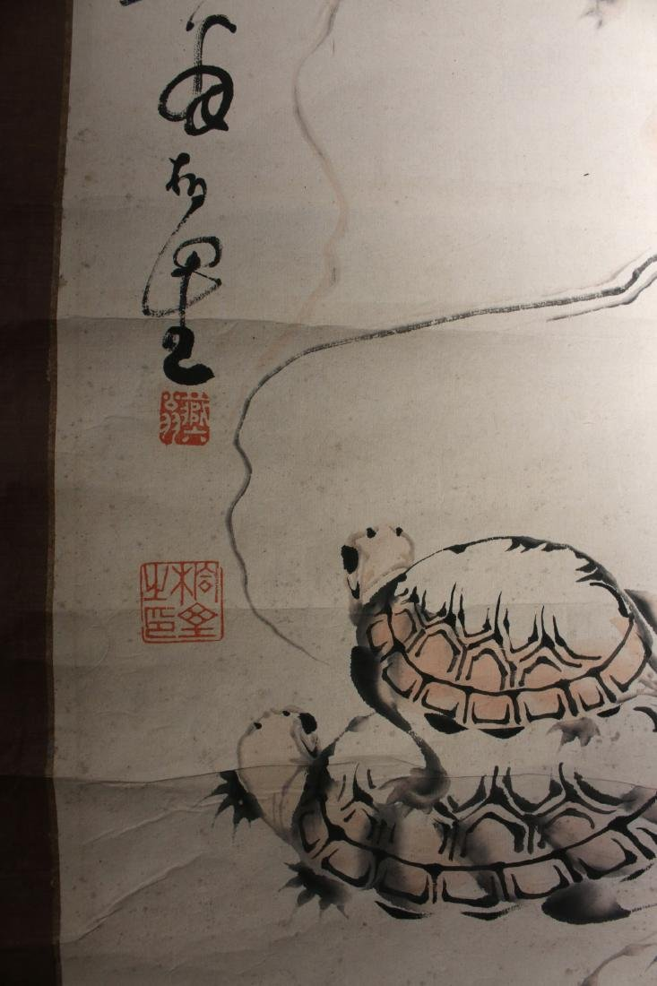JAPANESE TURTLE SCROLL - 7