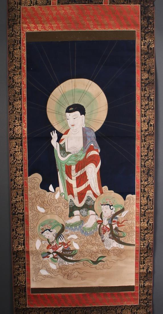 JAPANESE OLD BUDDHA SCROLL
