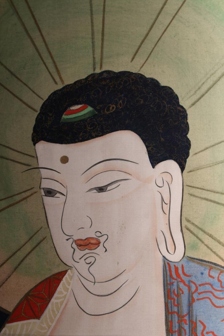 JAPANESE OLD BUDDHA SCROLL - 3