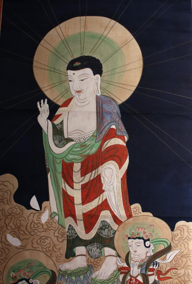 JAPANESE OLD BUDDHA SCROLL - 4