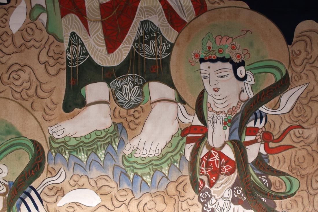 JAPANESE OLD BUDDHA SCROLL - 5