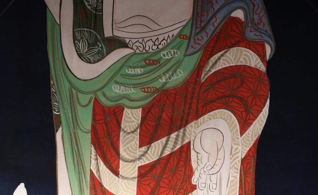 JAPANESE OLD BUDDHA SCROLL - 6