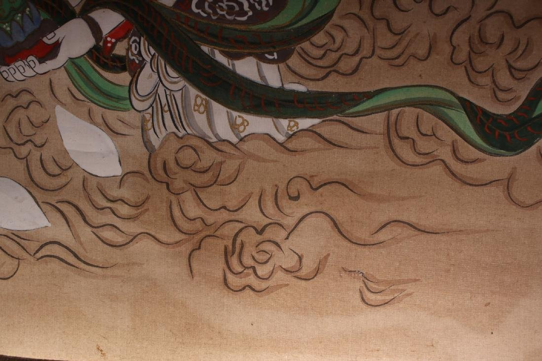 JAPANESE OLD BUDDHA SCROLL - 7