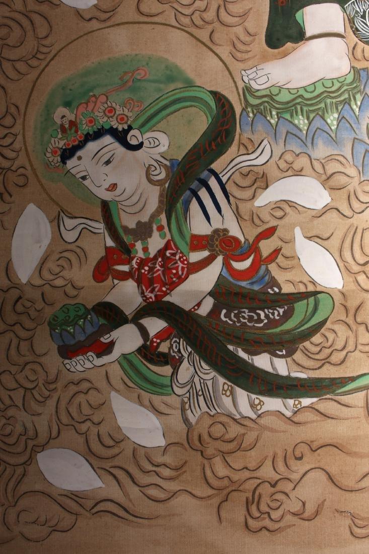 JAPANESE OLD BUDDHA SCROLL - 8