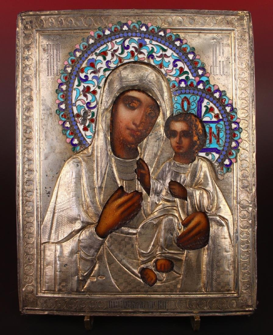 MADONNA AND CHILD RUSSIAN RELIGIOUS ICON - 2