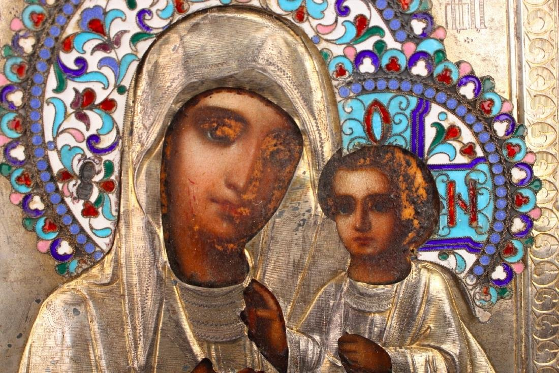 MADONNA AND CHILD RUSSIAN RELIGIOUS ICON - 3