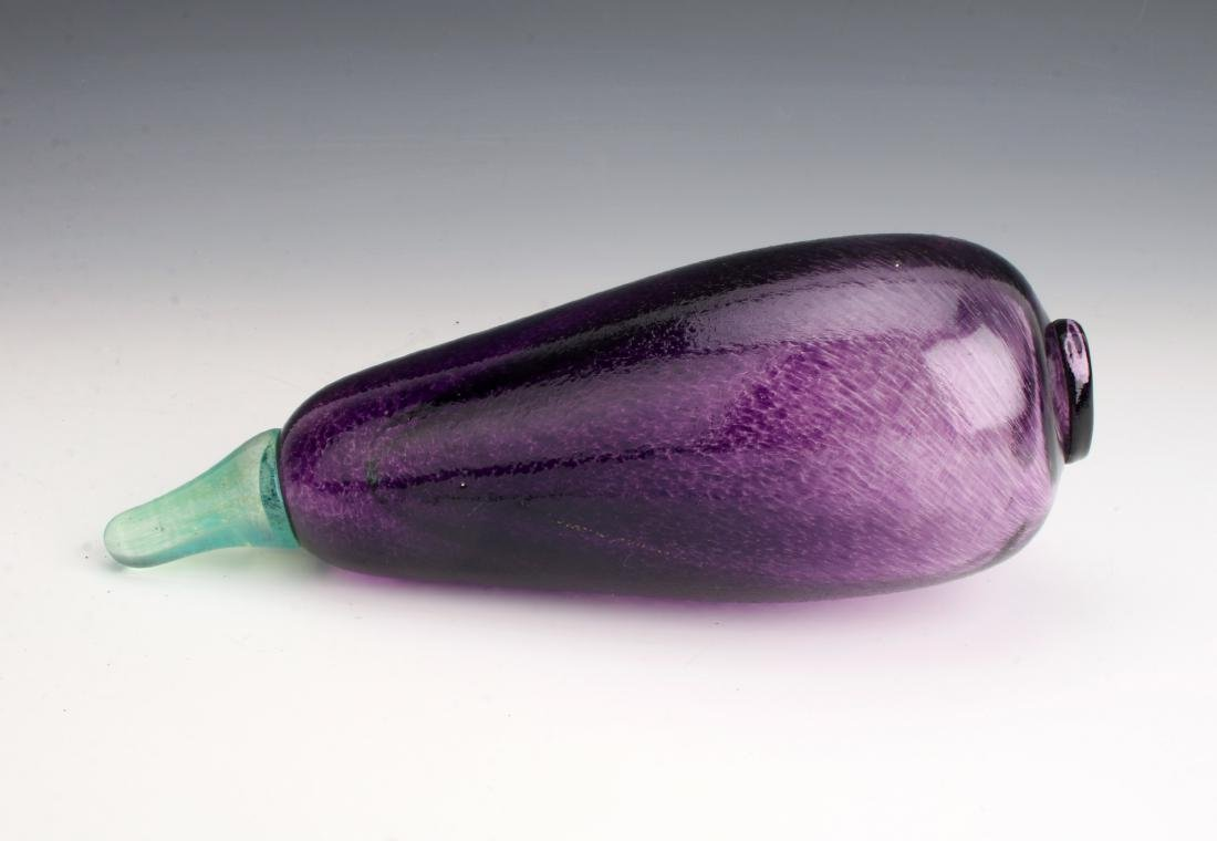 KOSTA BODA SIGNED G. SAHLIN ART GLASS EGGPLANT - 5